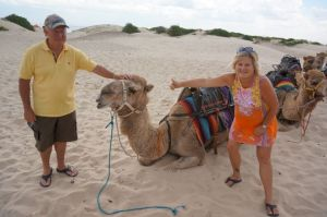 Dearne and Rod with Camels