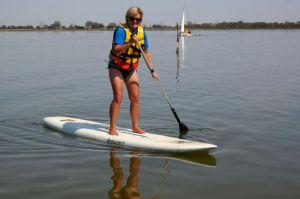 Dearne on Paddle Board