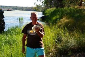 Rod with his catch on the Murray