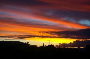 Sunset at Snowtown