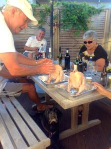 Rod Preparing his Beer Can Chicken