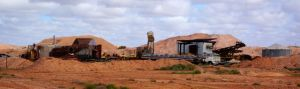 A very typical Coober Pedy landscape