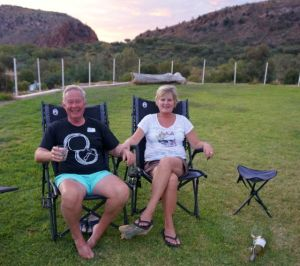 Rod and Dearne at 5 o'clocker in Alice