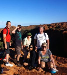 The Team on top of Kings Canyon