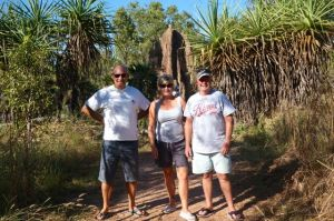 Steve, Dearne and Rod at the Magnetic Termite Mounds, Litchfield National Park