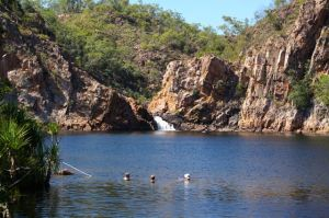 The waterhole just beside our motorhome at Edith Falls