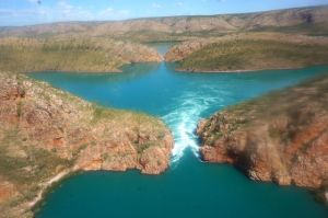 One section of the Horizontal Falls - its nature but it's scary