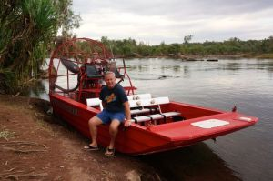 Rod on the Air Boat