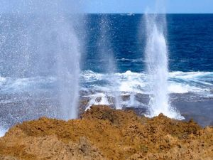 The blowholes at Point Quobba north of Carnarvon