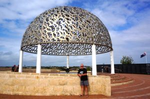 Rod at the HMAS Sydney Memorial at Geraldton