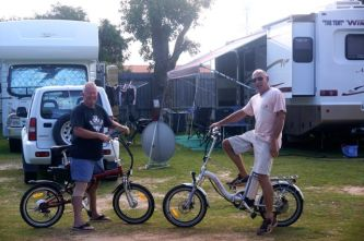 Road and Steve heading off on an early morning ride at Jurien Bay