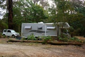 Parked up in the bush at the Rounttu-it Eco Camp