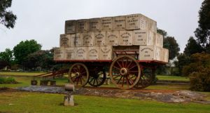 The giant wheat wagon at Kogonup