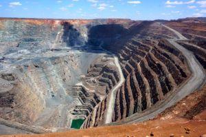 The 'Super Pit' open cast goldmine at Kalgoorlie Bolder