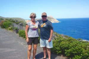 The Captain and the Navigator on their cliff walk in the Torndirrup National Park