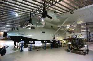 A restored Catalina PBY at the Lake Boga Flying Boat Museum