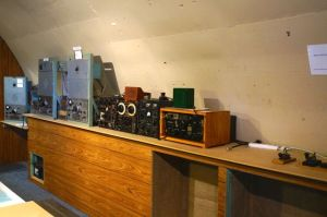 The radio shack in the underground bunker at the Lake Boga Flying Boat Museum
