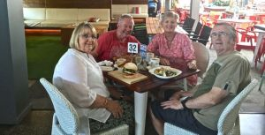 Lunching at Brian and Louise's local RSL on Friday. L to R: Louise, Rod, Dearne, Brian