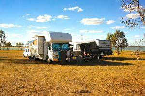 Parked up at Green Lake, Victoria