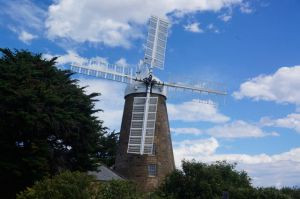 The flour mill in the centre of town at Oatlands