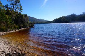 Lake Rosebery beside out parkup at Tallah