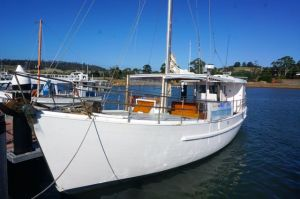 Our fishing vessel 'Mata Cara' in Triabunna